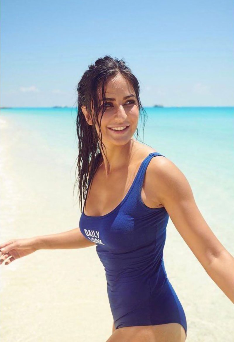 Katrina Kaif Blue Swimsuit