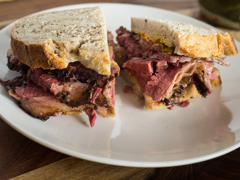 Smoked meat sandwiches